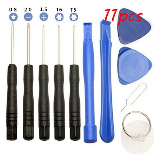 Cellphone Repair Opening 11 in 1 Sets Tools Kit Pentalobe Star Screwdriver Screen for phone ipad Samsung iphone 8 X 5S 6 7