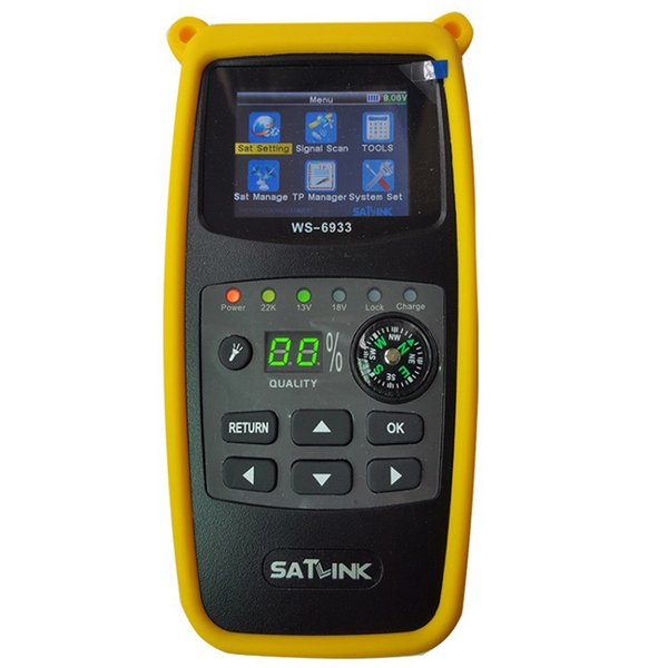 Satlink WS-6933 Satellite Finder Display LCD da 2.1 pollici DVB-S2 FTA CKU Band Satlink Satellite Finder digitale Meter WS 6933