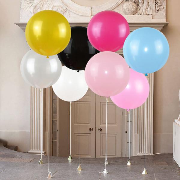 Compre Ventilar Partido Accesorios Balones De 36 Pulgadas Decoración De La Boda Del Globo De Látex Perla Helio Grande Grande Fiesta De Cumpleaños