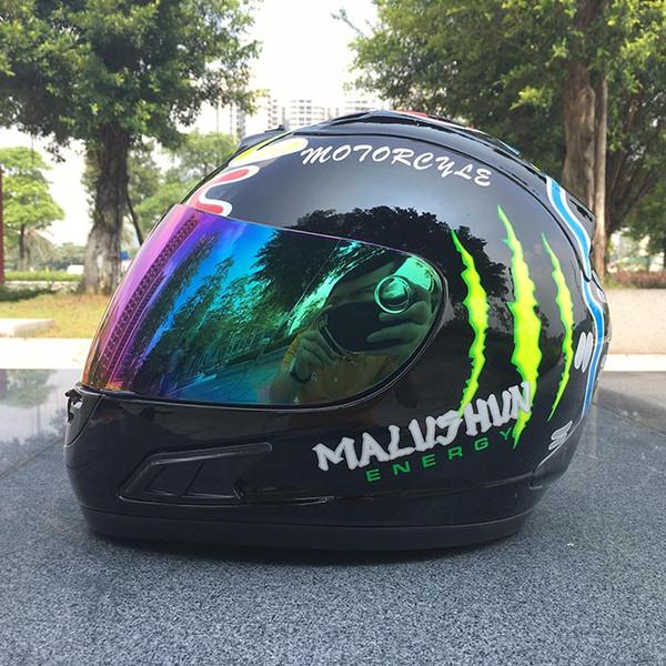 estilo legal da cara do capacete da motocicleta de malushun