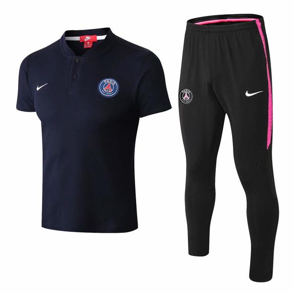 Best quality 2019 new season men's polo lapel short-sleeve training suit polo football tracksuit training suit