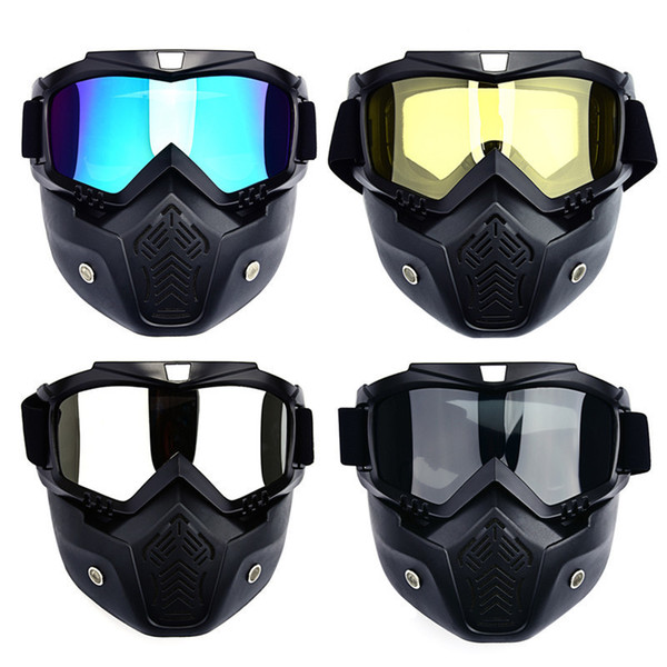 best selling Men Ski Snowboard Mask Winter Ski Snowmobile Goggles Windproof Skiing Glasses Sunglasses With Mouth Filter