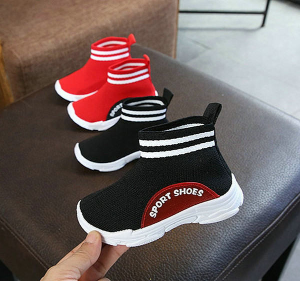New Fashion Baby Knitted Socks Sports Shoes Infant Kids Casual Elastic Sneakers Sock Shoes For Boys Girls
