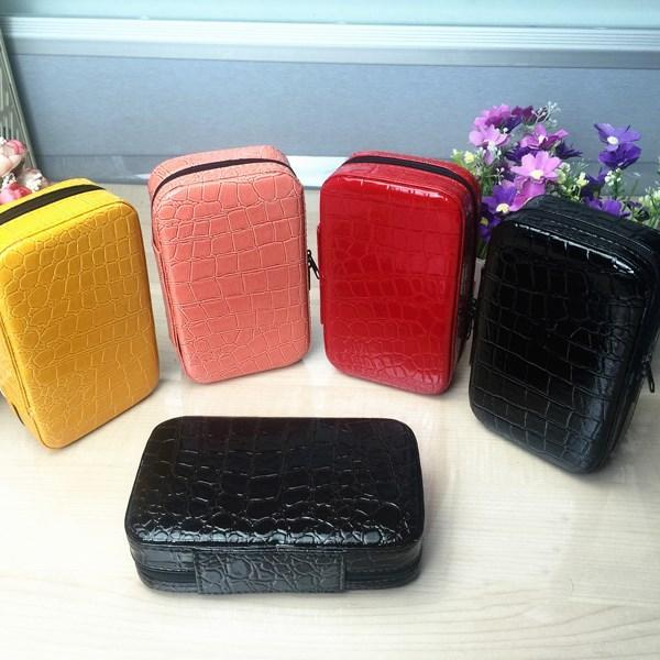 Fashion 32 Bottles 2ML Essential Oil Carrying Case Make Up Bag Storage For Traveling Cosmetic Bag Leather Case