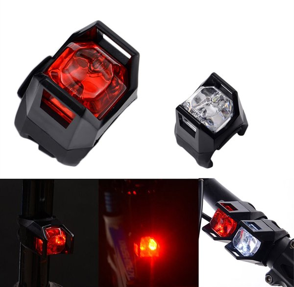NEW Bright Red White Bike Mini Bicycle Cycling Flashing LED Head Front Wheel Rear TailLight 3 modes Warning Safety Waterproof #191414