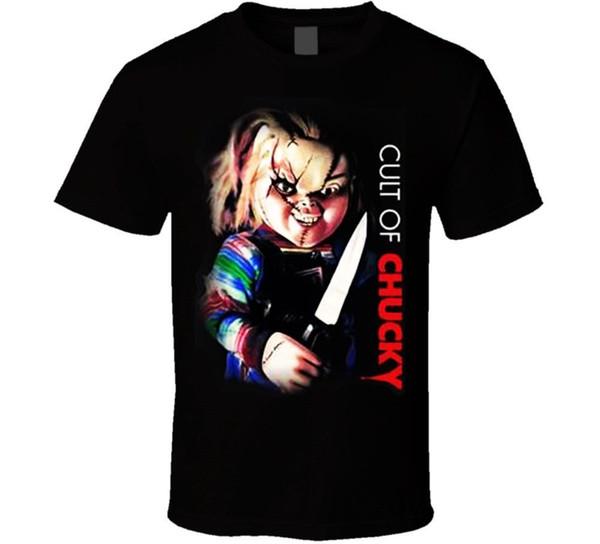 Cult Of Chucky Tee T Shirt, American Horror Movie T-Shirt Long Sleeve For Men