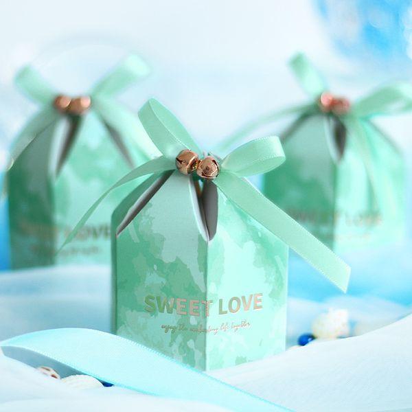 Sweet Love Candy Box mit Band Schokolade Geschenkboxen Hochzeit Souvenirs für Gäste Baby Shower Hochzeit Gefälligkeiten und Geschenken