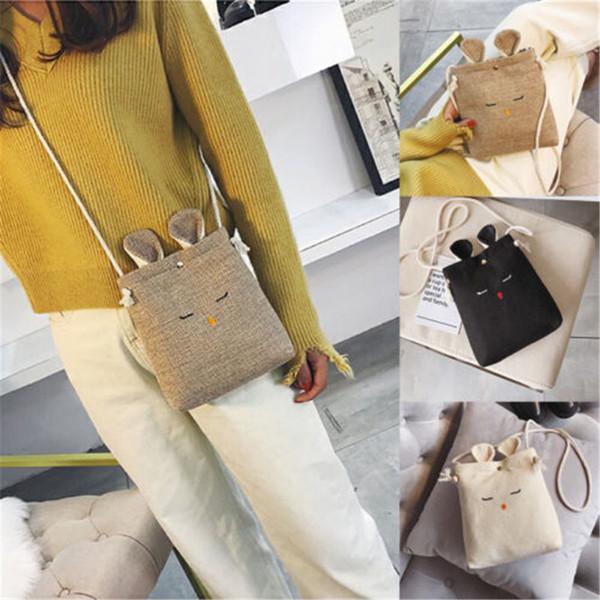 2020 Новые Симпатичные женщины дамы сумки Малый белье Crossbody сумка кошелек монет сотовый телефон мешок перемещения белья кролика мешки посыльного