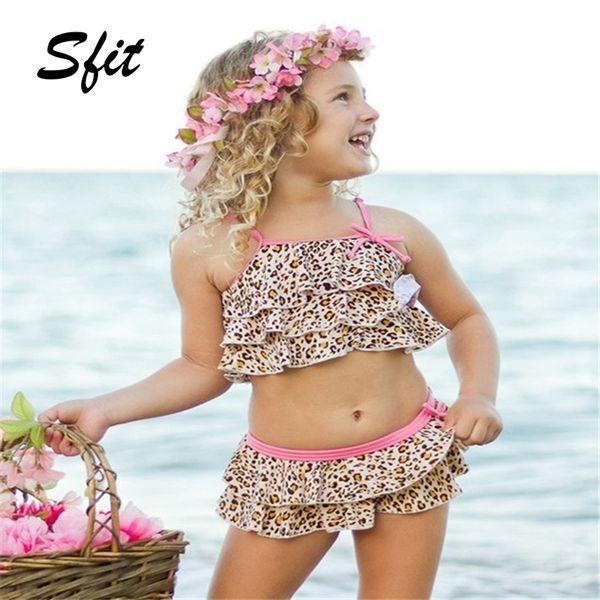 Sfit 2019 Summer Baby Kids Girl Costume da bagno a due pezzi Costumi da bagno per bambini Sport acquatici Costume da bagno Costume da bagno da spiaggia