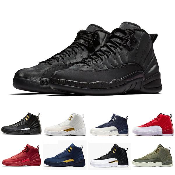 12 12 s Yeni Spor Kırmızı erkek basketbol ayakkabı Concord 45 Michigan boğalar UNC Grip Oyunu usta siyah beyaz taksi Spor antrenörü sneakers