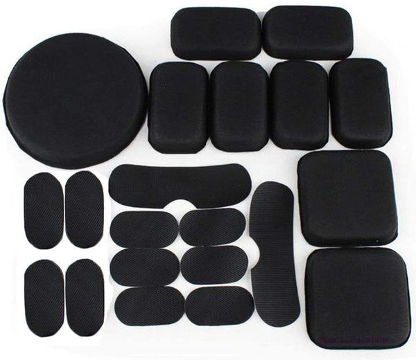 best selling Black Helmet Pad EVA Foam pad for Tactical Helmet Protection 19 Set for Airsoft Helmet Protective Pad Cushions