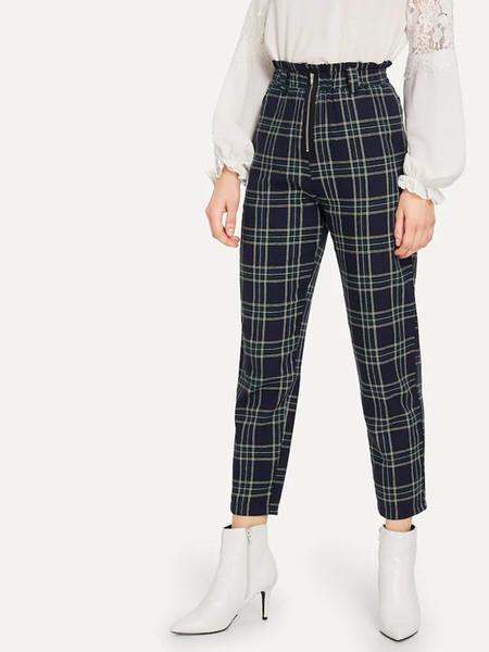 Calças de mangas compridas harem pants casuais das mulheres outono nova versão coreana da cintura alta solta selvagem retro nove pontos calças