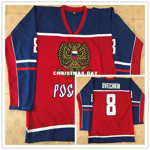 huge selection of f9943 5f608 2019 Team Russia 8 Alex Ovechkin MEN'S Ice Hockey Jersey Embroidery  Stitched Customize Any Number And Name From Christmas_day, $30.14 |  DHgate.Com
