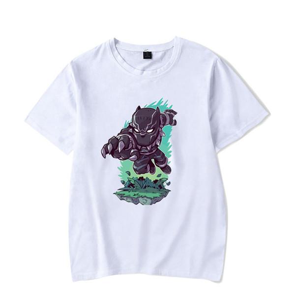 Modedesigner Männer und der Frauen-T-Shirts Plain White Karikatur-Druck-T-Shirt Beliebte Junge Menschen Stil Tshi