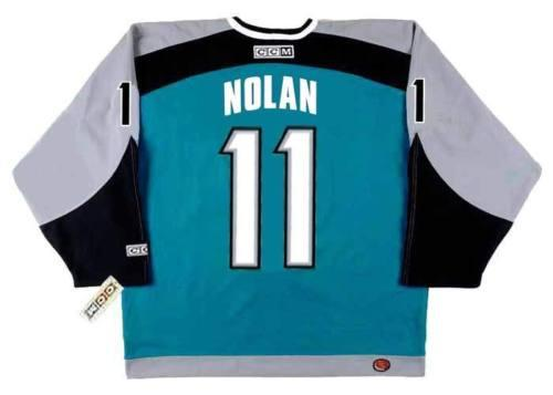 2018 Men Women Youth OWEN NOLAN San Jose Sharks 2001 Home Hockey Jersey All Stitched Top-quality Any Name Any Number Goalie Cut