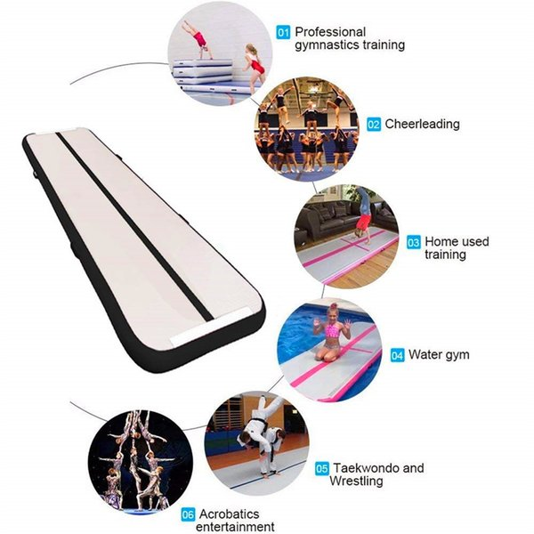 2018 4m Long Inflatable Gymnastics Air Track Tumbling Mat Air Tumbling Floor Mats For Home Use Beach Park And Water From Sushan87 406 24