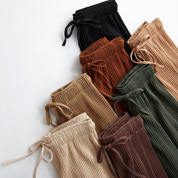 womens pants new wide leg pants korean version of the nine pants loose wide leg female summer sense high waist