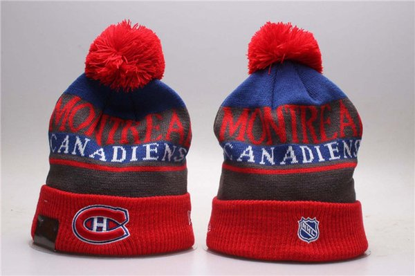 a2c84a091579cd 2018 New Montreal Canadiens Sport Ice Hockey Vintage Knitted Beanies Women's  Winter Warm Skull Hats Embroidered