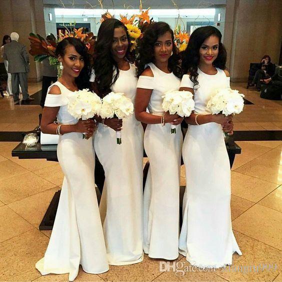 Валериана лекарственная Mermaid Длинные платья невесты с короткими рукавами Jewel Простые Длина Дешевые свадебные платья для гостей пола Специальные платья случаю