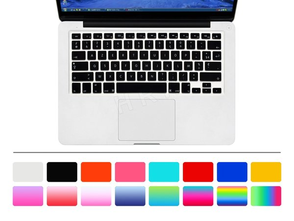 Keyboard Cover Skin Cover Protective Film Silicone Usa Us Enter Azerty French For Macbook Pro Air Retina 13 15 17