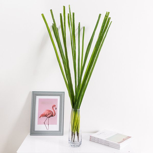 Artificial Green Plant Deco Fake Leaves Nearly Real Plastic Leaves Branch Grass Desk Decoration Table Ornaments Floriculture Reed Leaves