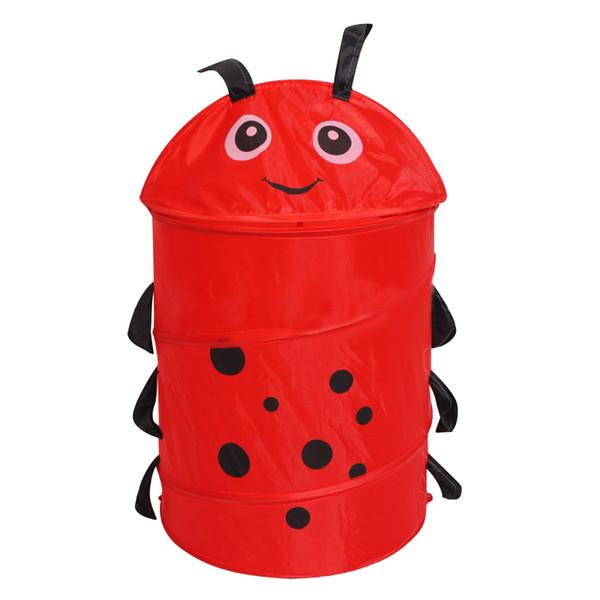 2019 New Cute Animal Storage Buckets Folding Cylinder Laundry Basket Toy Box 9 Style Toy Box Organizer Storage Bags