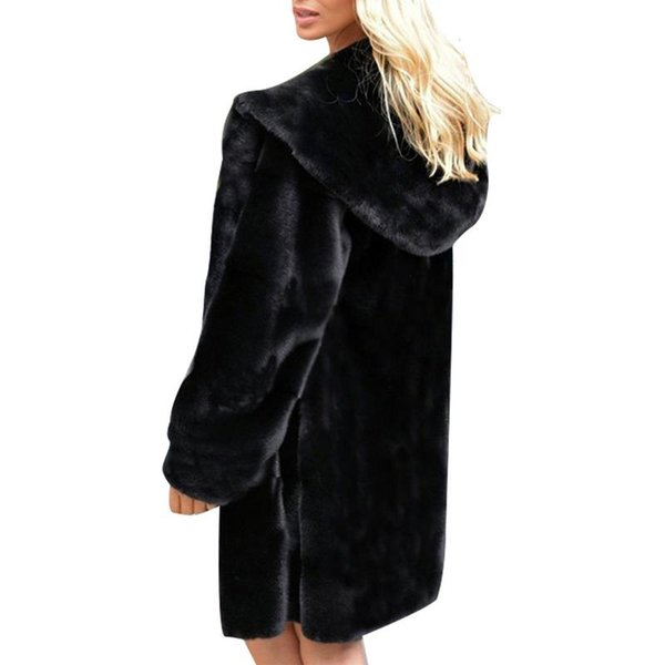 Fur Coat Autumn And Winter Warm Faux Fur Cotton Coat Women Fit Slim Mink Faux Long Jacket Women kamizelka futerko