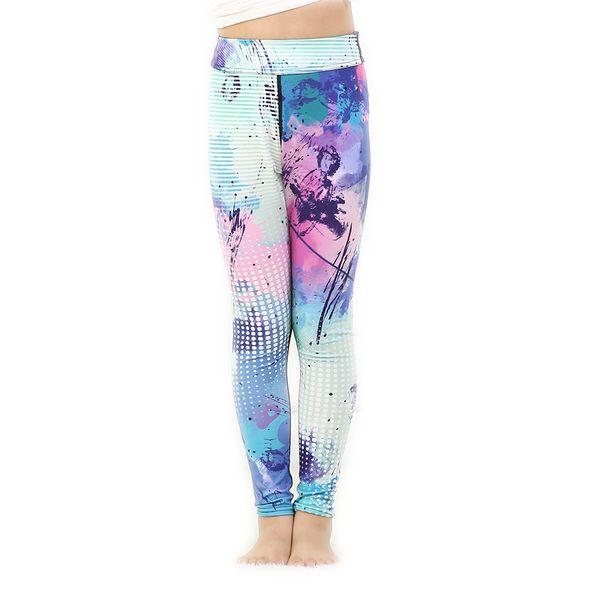 Love Spark Kids Girls Black White Yoga Sports Pants Painting 3D Print School Kids Running Gym Workout Leggings