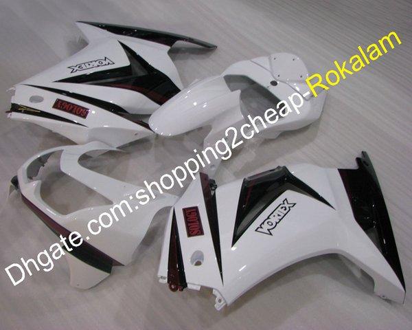 Piezas de la carrocería de Ninja 250R para Kawasaki ZX250R EX250 2008 2009 2010 2011 2012 blanco negro Moto Carenado Kit (moldeo por inyección)