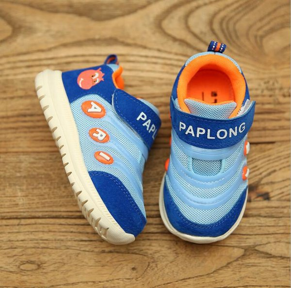 Cute Cartoon Children Shoes For Boys Fashion Sneakers Girls Sport Child Casual Light Breathable Baby Boys Flats Kids Shoes