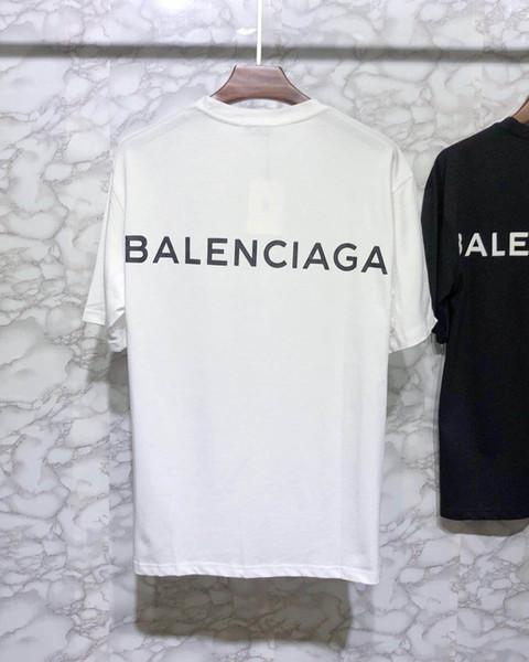 9022 новый мужской дизайнер Марка футболки o воротник женщины с коротким рукавом Париж Италия хип-хоп стиль вышивка печать высокое качество 100% хлопок
