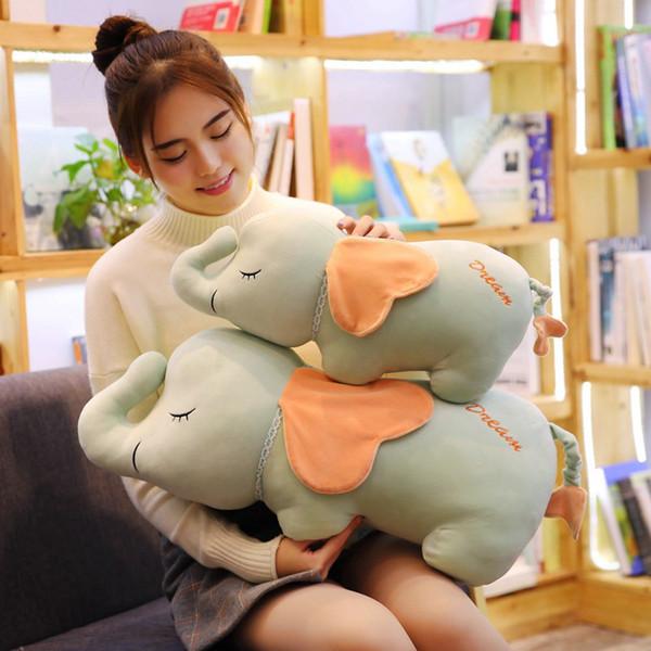 50 cm / 70 cm Macio Bonito ElephantPiggy Travesseiro De Pelúcia Doce Animal Dos Desenhos Animados Elefante De Pelúcia Boneca Nap Travesseiro Almofada Brinquedos Presentes Do Amante