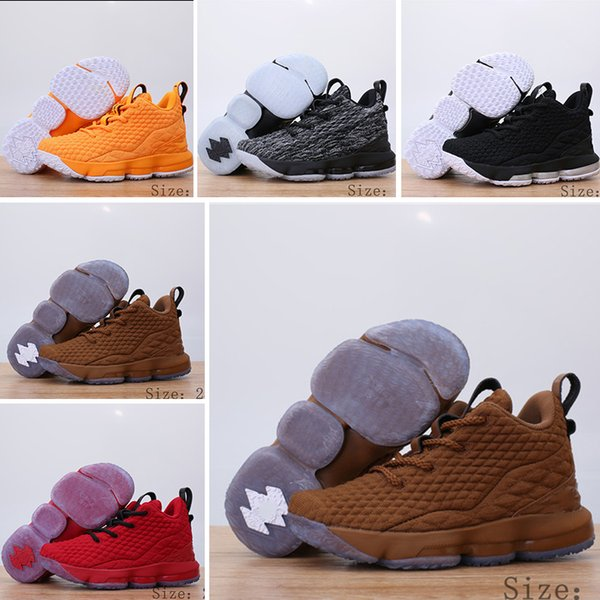 buy online 70499 0441e Cheap Mens Lebron 15 Basketball Shoes For Sale Fruity Pebbles Youth Kids  Outdoor Sneakers Size EUR 28 35 Cheap Childrens Running Shoes Kids Shoes  From ...