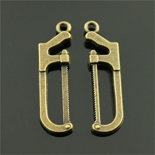 150pcs Charm Saw Tool Vintage Tool Saw Charms Pendant For Jewelry Making Antique Bronze Color Saw Charms 9x30mm