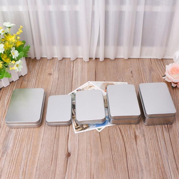 NEW Delicate Small Metal Tin Silver Storage Box Case Organizer For Money Coin Candy Key Organization Storage Box