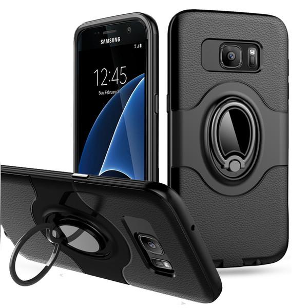Ultra luz de la carpeta a prueba de golpes de Protección Slim con caja del teléfono de pata de cabra duro para Samsung galaxy note 8 Nota 9 s9 s9 más borde s8 más s7