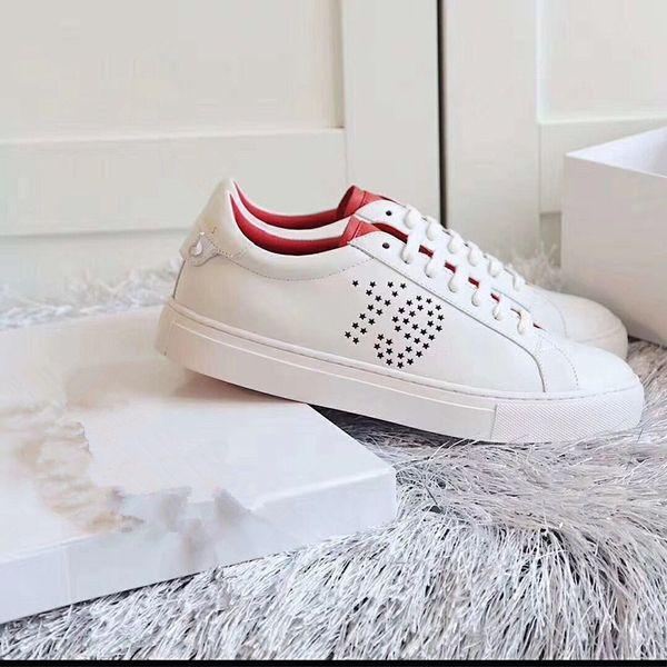 2019 primavera nuova cinghia rotonda piatta testa in pelle moda traspirante sport casual scarpe bianche scarpe da donna versione coreana38-46
