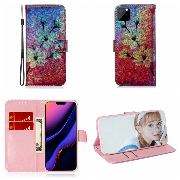 Leather Wallet Case For Iphone 11 New 2019 XS MAX XR 8 7 6 5S Bling Colorful Tiger Cat Butterfly Panda Animal ID Flower Holder Flip Cover