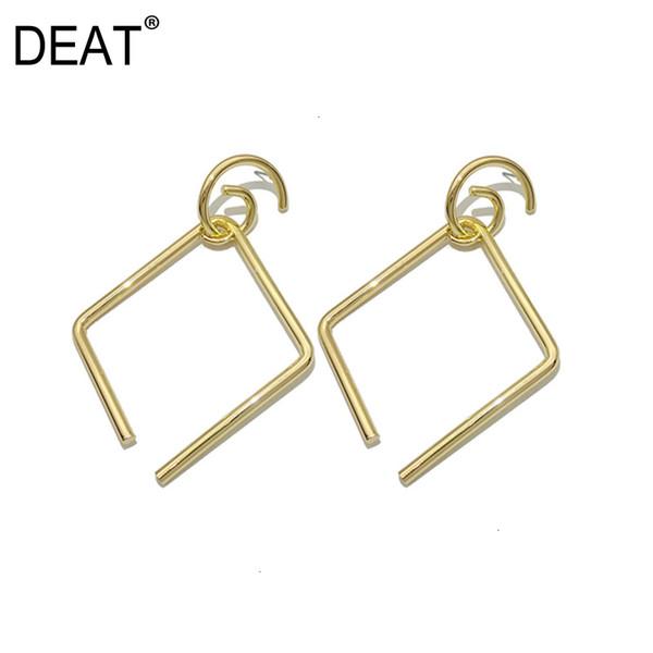[DEAT] Women Split Joint Personality Geometric Earrings New Temperament Fashion Tide All-match Spring Autumn 2019 13E572