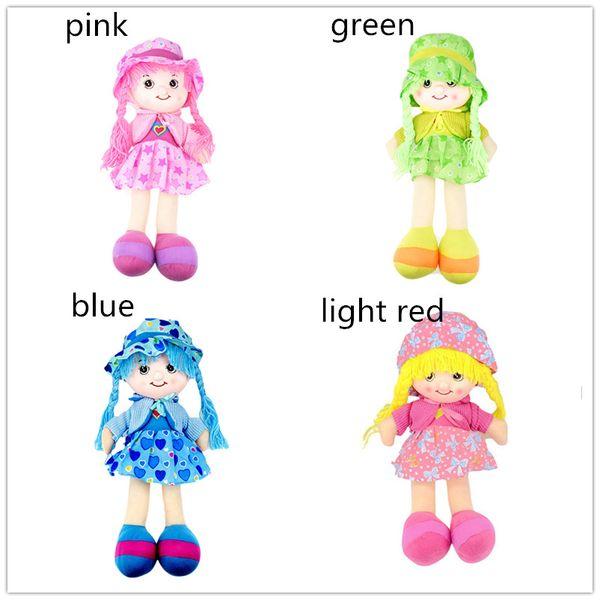 Bambole Bambole di pezza 42cm 4 colori cuore amorevole stelle fiocchi modello bambole vestite con le trecce Giocattoli per bambini farcito peluche figure bambole ifts