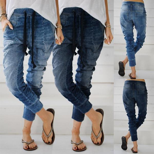 Fabricantes vendem desejo amazon americano e europeu das mulheres jeans tiein calças jeans Hallen