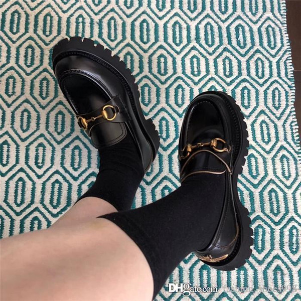 Bee platform shoes with copper horse buckles for 2019,Make someone look slimmer womens restoring ancient ways shoes