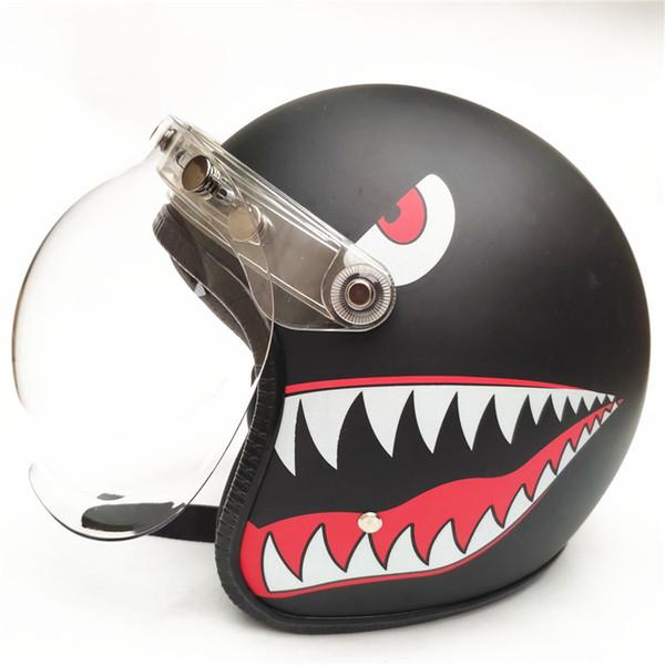 HEISSER VERKAUF Vintage Motorradhelm Jethelm DOT genehmigte die Hälfte der Retro-Moto-Casco-Capacete-Motociclistas Capacete