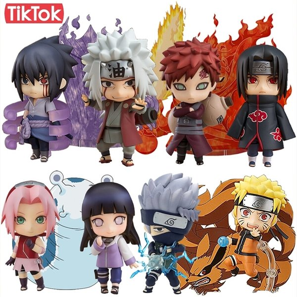 Nendoroid Naruto 682 Sasuke Uchiha 707 Uchiha Itachi 820 Jiraiya 886 Sakura 833 Gaara 956 Oyuncak Action Figure Modeli Bebek Hediye Y19051804