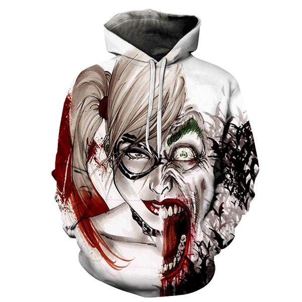 2109 New Suicide 3D Hoodie Sweatshirts Squad Joker New Quinn Printed Men/Women Hood Pullovers Hip Hop Streetwear Dropship
