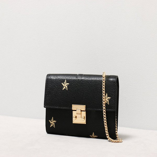 Designer Bags Golden Color Bee 19 New Locks Button Chains Genuine Leather Single-shoulder Handbags Crossbody Bags