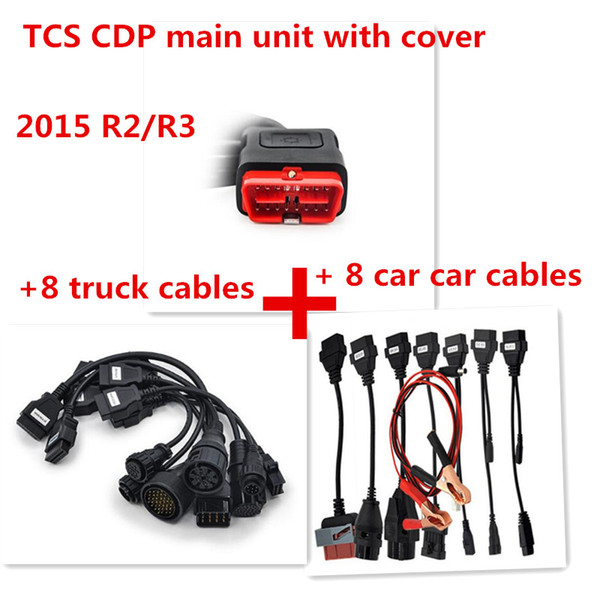 2019 OBDII SCANNER CDP Pro plus Full Set For Delphis Aut0com Car diagnostic tools Scanner with 8 Car Cables and Truck Cables