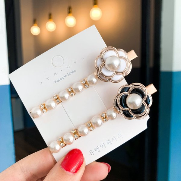 Wedding Party beaded pearl gift woman lady diamond jewelry Hair Clips Barrettes hairpin for bride acting initiation graduation QM-26