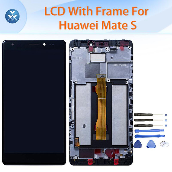 "Original LCD for Huawei Mate S CRR-UL00 LCD display touch screen digitizer glass frame assembly 5.5"" repair black white gold"