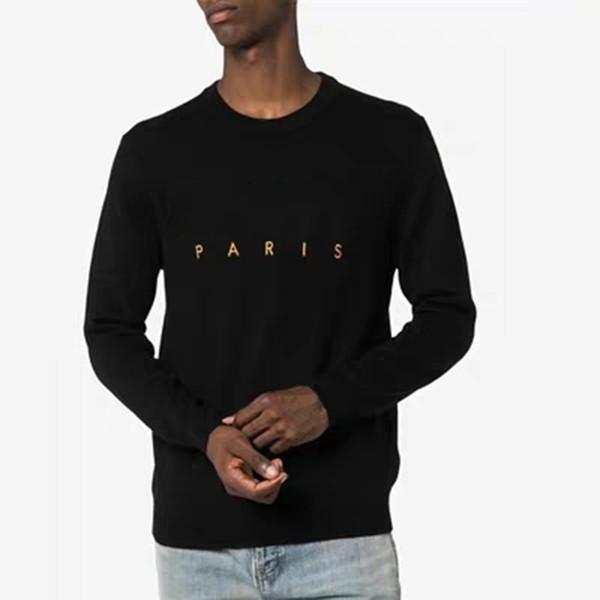 Luxury men de igner weater hoodie men ca ual round neck long leeve weater men de igner weat hirt black ize  2xl, White;black
